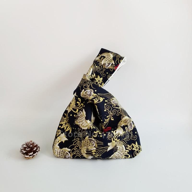 Monedero Retro Para llevar a mano, de estilo literario para mujer, bolso de mano para niñas, Cartera de lona para teléfono móvil, Kimono japonés, precioso bolso de mano con estampado de viga
