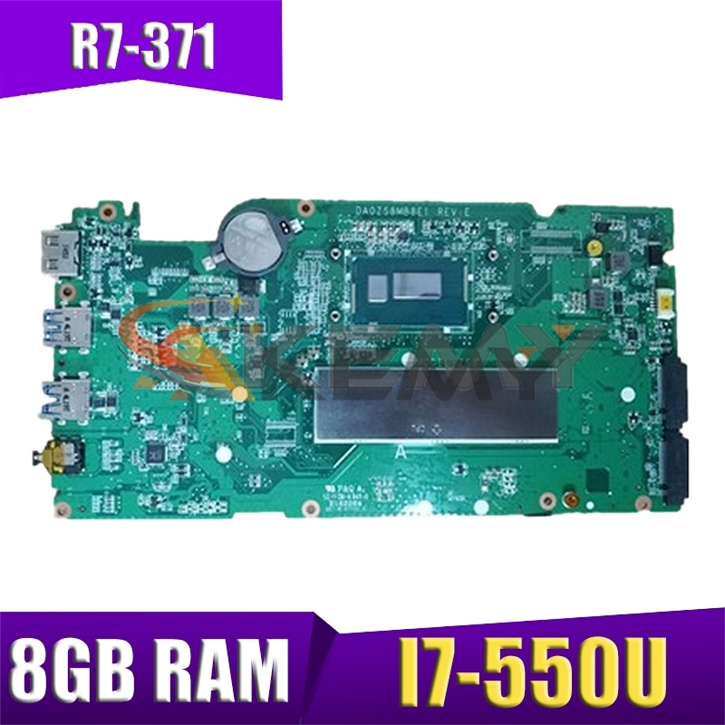 AKEMY para Acer Aspire R7-371 R7-371T placa base de computadora portátil con...