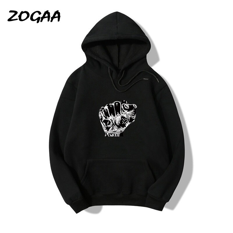 Мужская толстовка с капюшоном ZOGAA, черная толстовка с капюшоном в стиле Харадзюку, повседневная универсальная Толстовка для молодых пар, ве...
