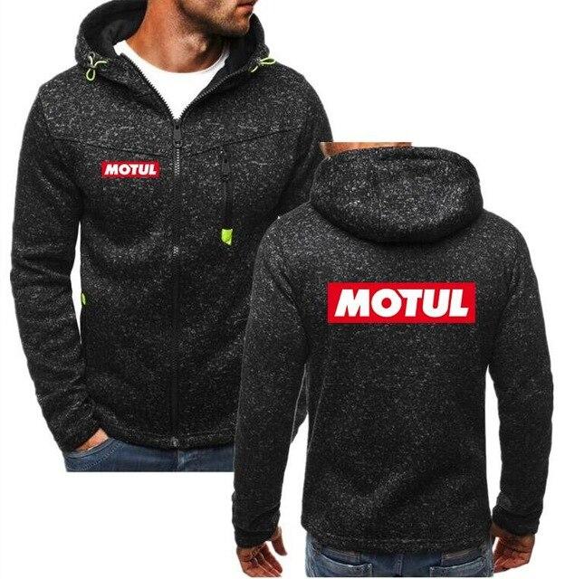 2019 Winter New Fashion for MOTUL Motor oil logo Hoodie Men Zipper Cardigan Jacket Hoodie Sweatshirts Casual Coat Tops XT