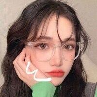 Для женщин прозрачный компьютерные очки в оправе для мужчин антибликовыми свойствами светильник круглые прозрачные очки блокировка очки о...
