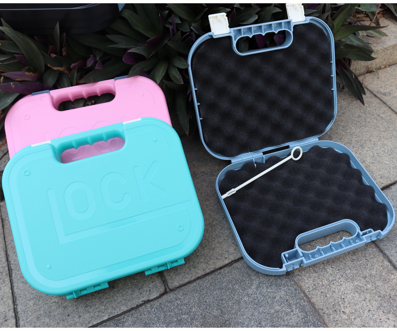 Airsoft água bala pistola de armazenamento caso carry box aplicável para glock kublai p1/p4/2011 mala abs material anti-queda