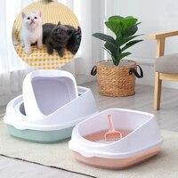 pet cat toilet bedpan anti splash cats litter scoop box cat dog tray kitten dog clean toilette trainer home sand box