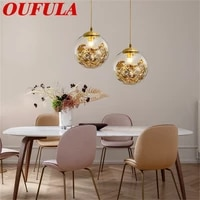 bright brass modern pendant lights hanging lamps creative decoration suitable for home restaurant dining room