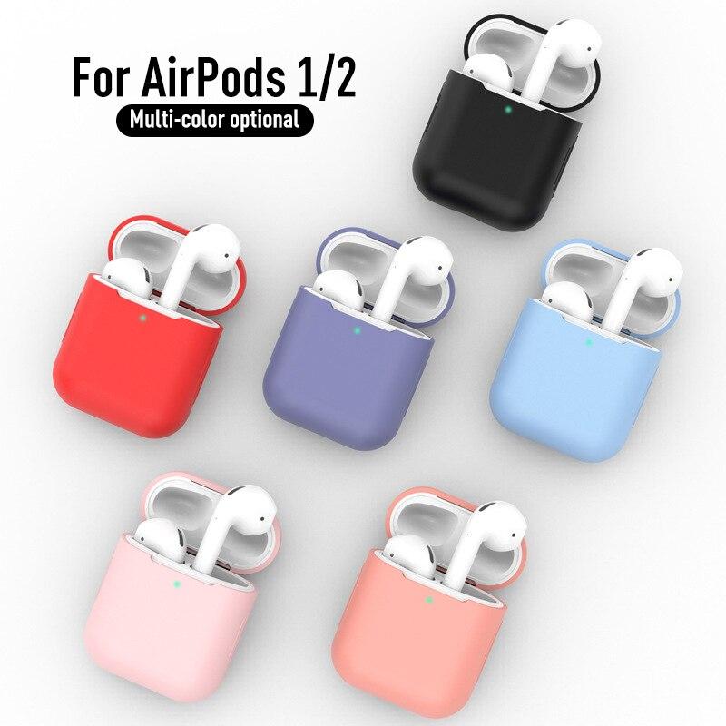 Custodia In Silicone For Apple Airpods 1/2 Calotta Di Protezione Della Cassa Auricolare Cuffie Custodie Protettiva