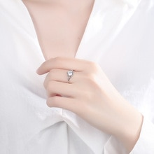 Silver rings for women Ornaments Meaningful gifts Adjustable size bague Women All Live for Love Fash