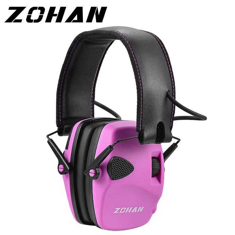ZOHAN-orejeras para protección auditiva electrónica para mujer, orejeras para tiro, protección para...
