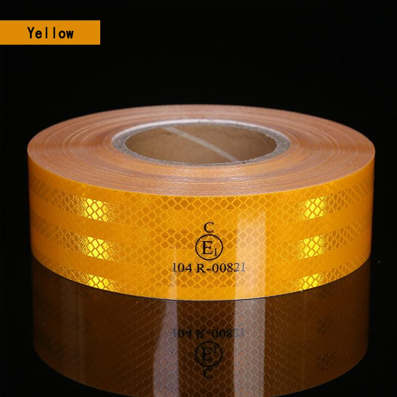 Prismatic Reflective Adhesive Sticker Conspicuity Tape For Truck Trailer