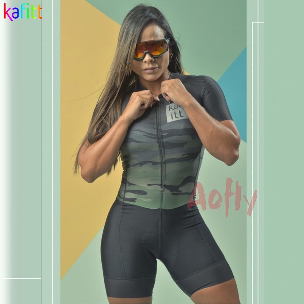 KAFITT-Conjuntos de triatlón corto para Ciclismo para Mujer, traje de equipo profesional,...
