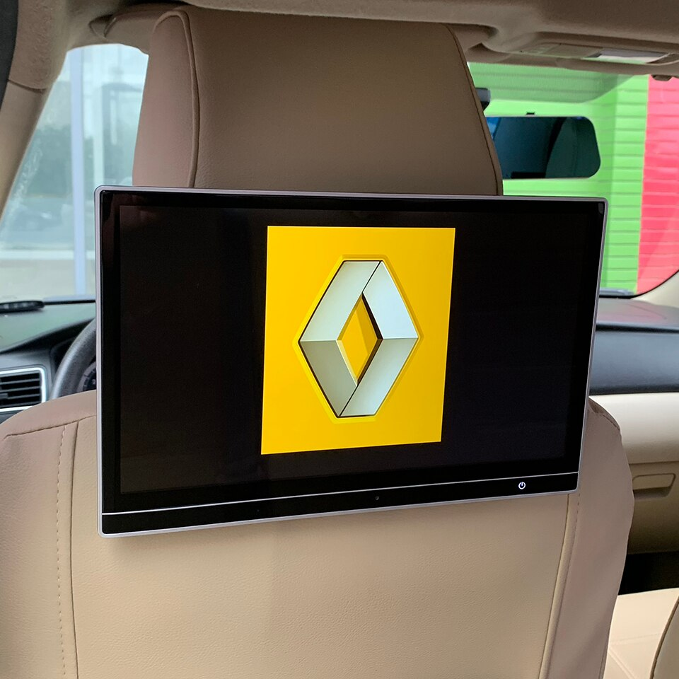 Reposacabezas con pantalla para coche Android 11,8 de 9,0 pulgadas con Monitor para Renault Master Megane, Scenic Trafic, sistema de entretenimiento para asiento trasero