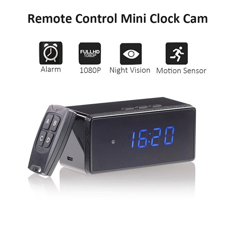 Reloj de mesa remoto Mini cámara 1080P HD IP IR-CUT videocámara alarma conjunto visión nocturna Sensor de movimiento Monitor Micro cámara sin Wifi