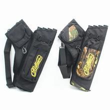 HobbyLane chasse flèche sac 4 Tubes flèche carquois pour tir à larc chasse flèches support sac avec sangle réglable accessoires de chasse