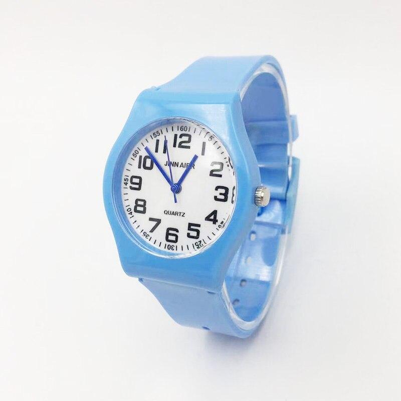 Hot Rosa Da Forma Cinta Geléia Crianças Relógios Meninas Mulheres Analógico Relógio de Quartzo para o Menino Estudante Sports relógios de Pulso Feminino presente reloj