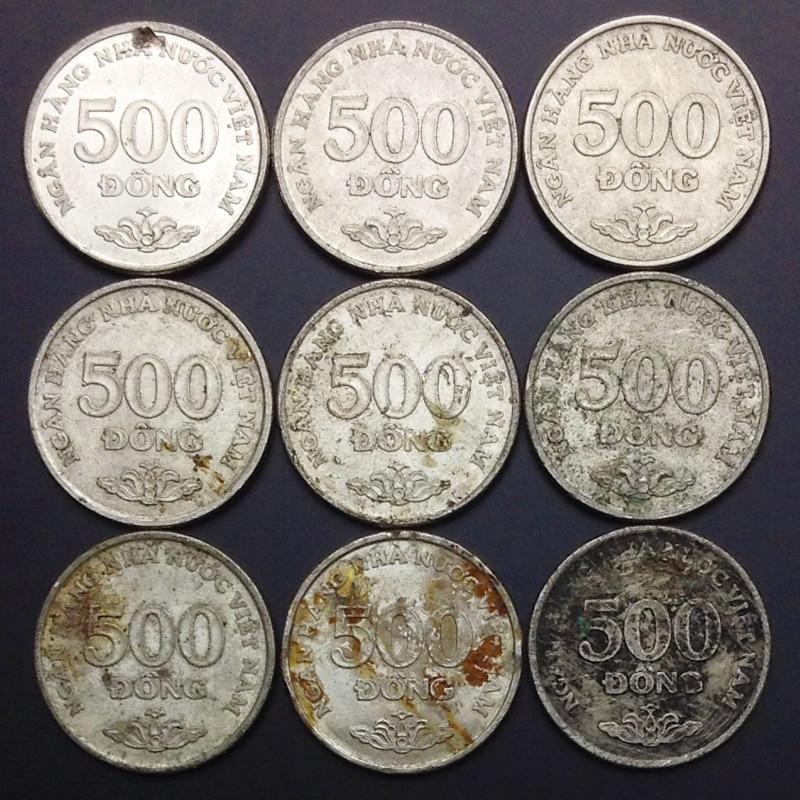 1 peça vietnã 500 vnd moedas originais 100% real coleção autêntica