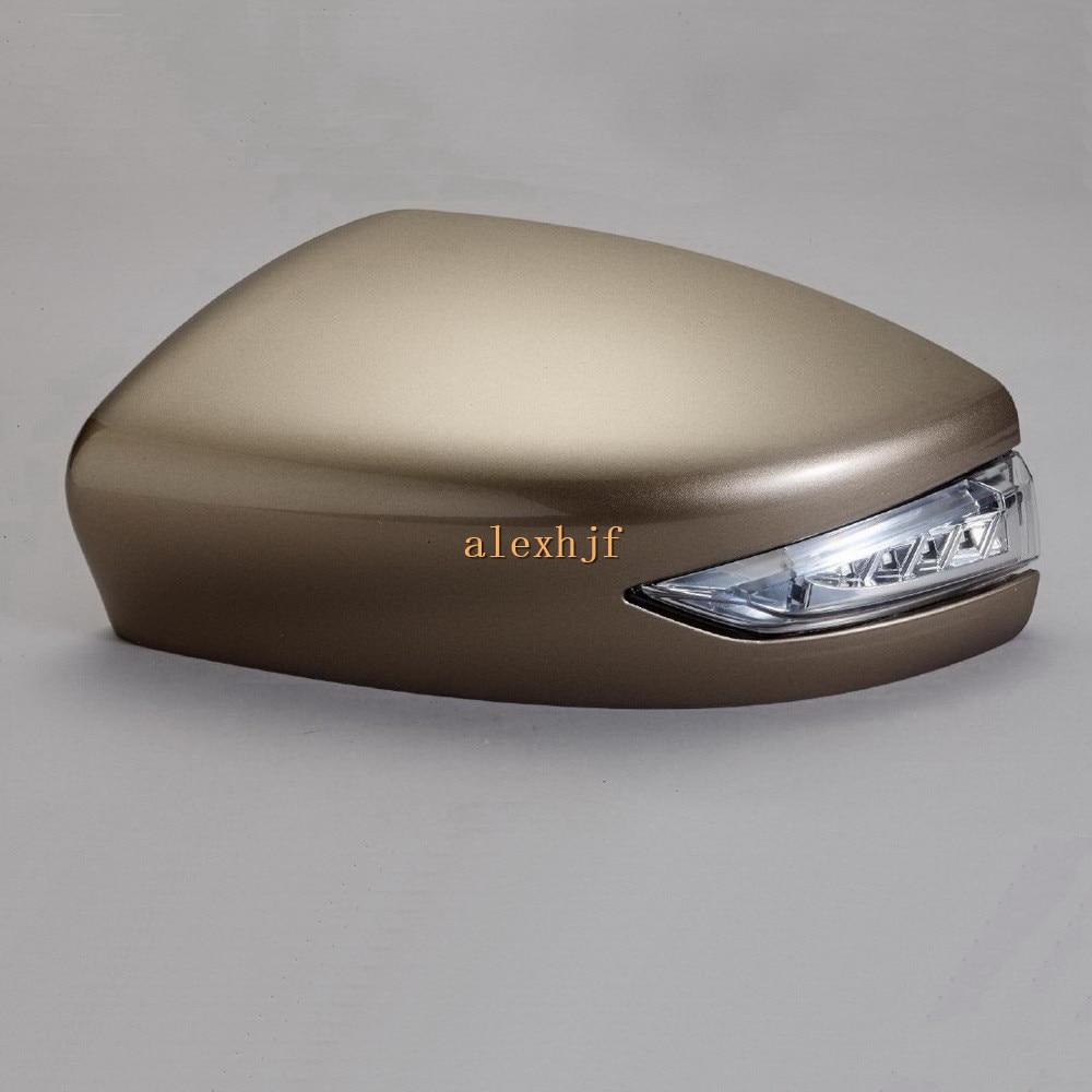 LED rétroviseurs arrière + couvercle; Clignotant jaune, DRL, boîtier de lampe au sol pour Nissan Sentra Sylphy Tiida Livina 2012-15