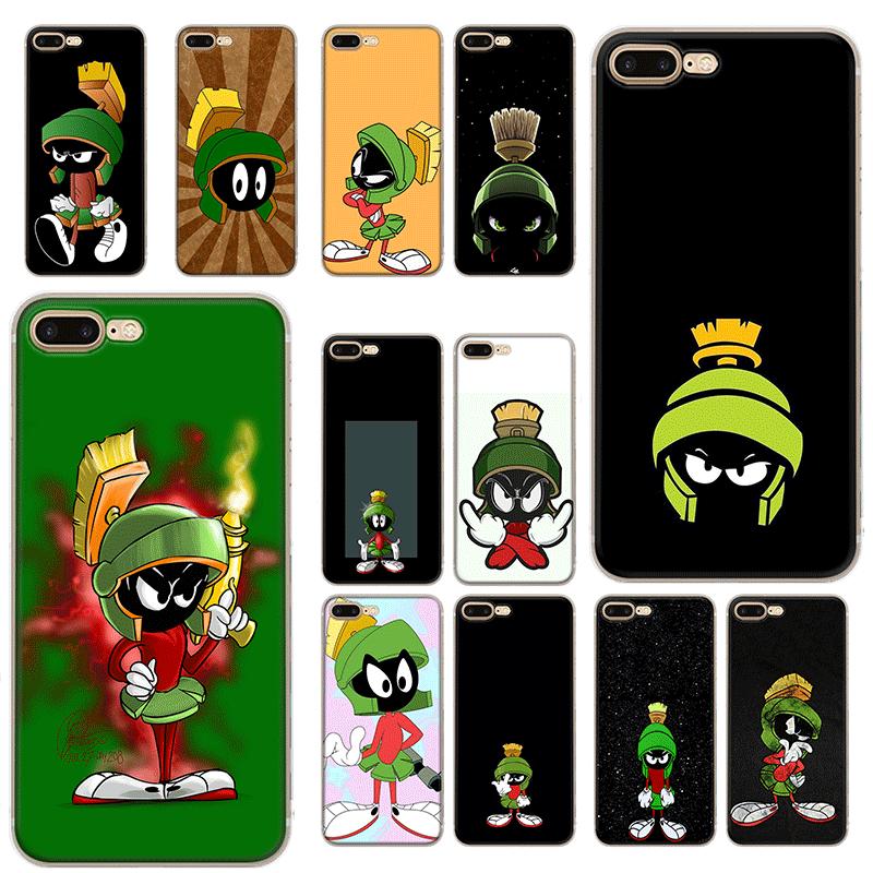 Caso do telefone móvel para o iphone xr x xs max 11 pro xr 6 s iphone 7 8 plus 5 5S se tpu capa marvin o marciano doobie