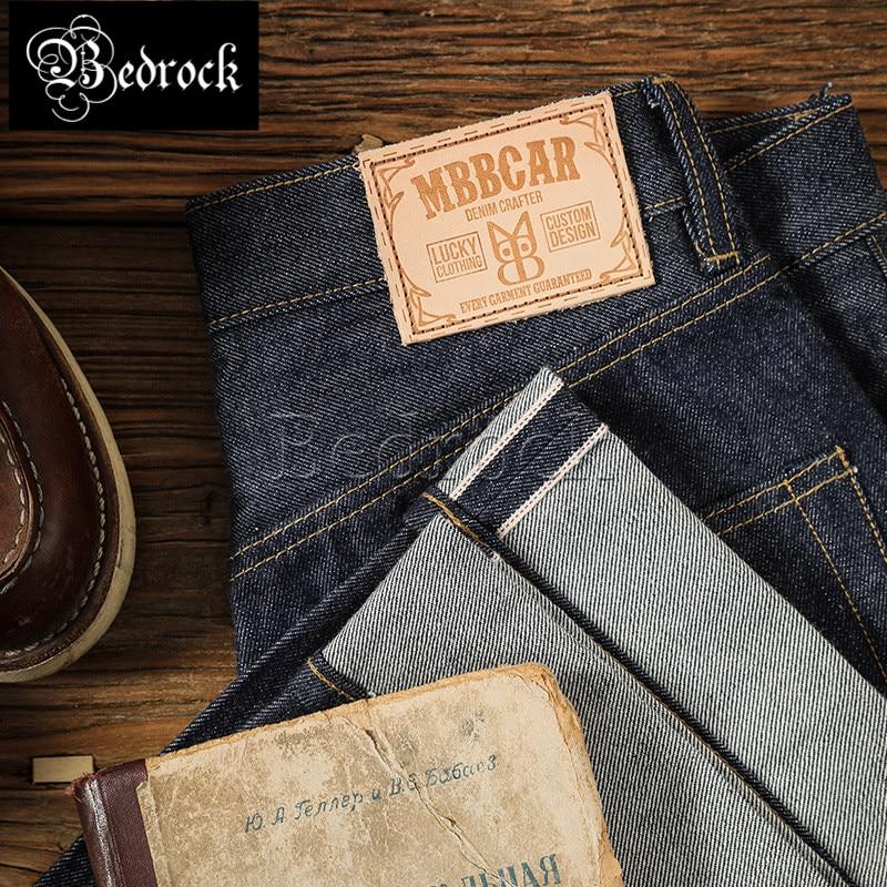 MBBCAR 14oz High quality vintage jeans RAW fabric animal series Straight leg jeans unwashed raw denim selvedge jeans men 704