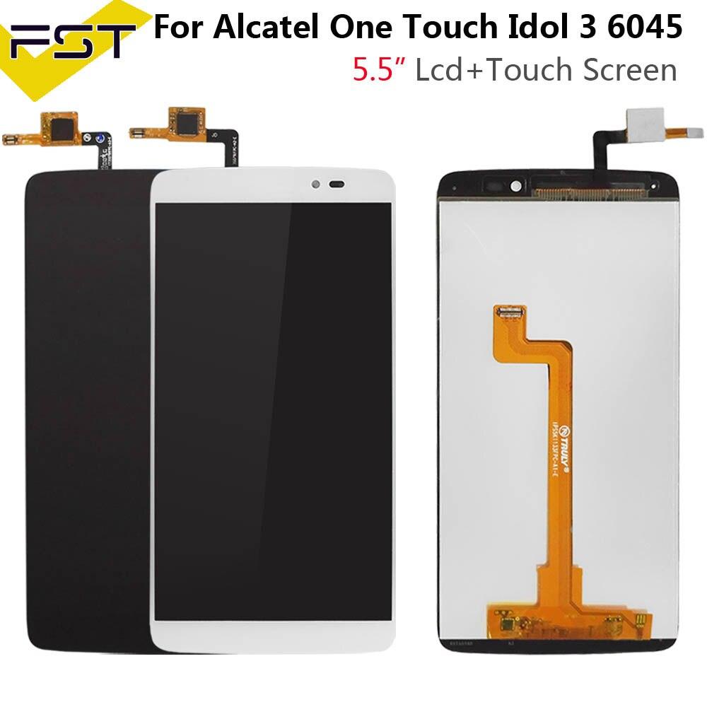 """עבור 5.5 """"Alcatel One Touch איידול 3 6045 OT6045 6045K 6045Y LCD תצוגה + מסך מגע Digitizer עצרת החלפת חלקים + כלים"""
