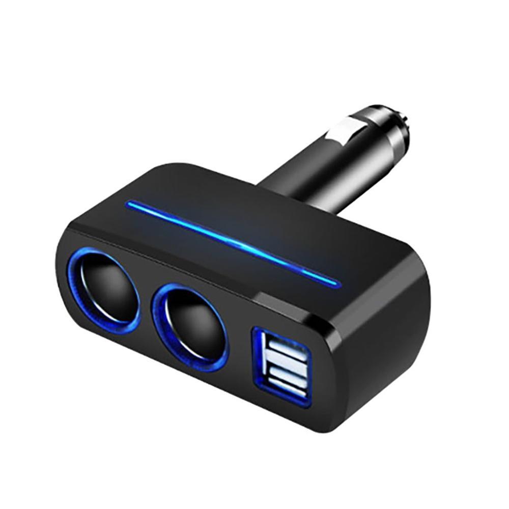 2019 2 puertos USB 2,0 Bettery cargador 12V 24V y enchufes dobles 2 vías coche alargador De cargador Splitter encendedor cargador De Carro