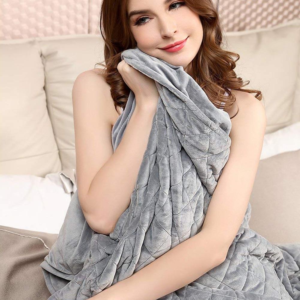 Heavy Blanket 100% Cotton Bubble Velvet Crystal Blanket Comforter Cover Decompression Sleep Aid Pressure For Children, Toddlers