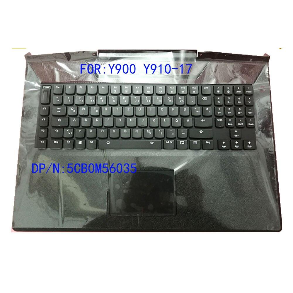Brand new original for Lenovo Savior Y900 Y910 Y910-17 Y900-17 laptop C case with German keyboard + touchpad shell 5CB0M56035