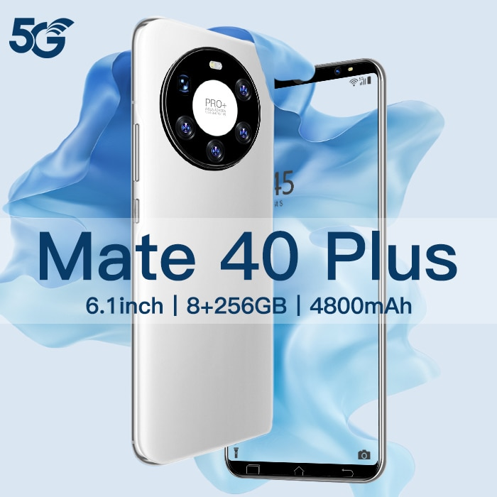 Original Hauwei Mate40 Plus Cell phone 8GB+256GB android 10.0 6.1 HDinch smartphones 16MP HDcamer Cellphones 4G/5G mobile phones