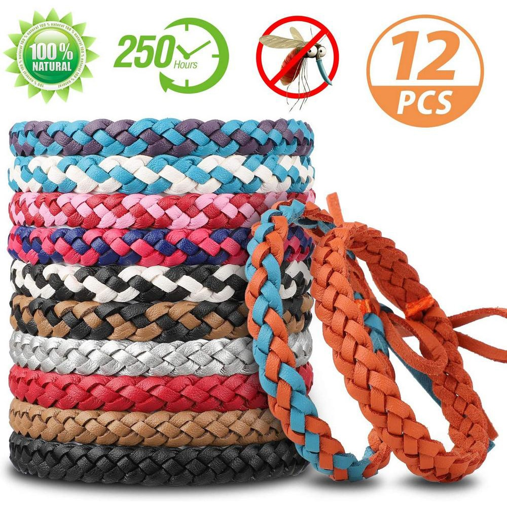 Dropship 12 Pcs Anti Mosquito Bracelet  Mosquito Insect Bus Repellent Bracelet Safe For Children Home Outdoor Pest Reject