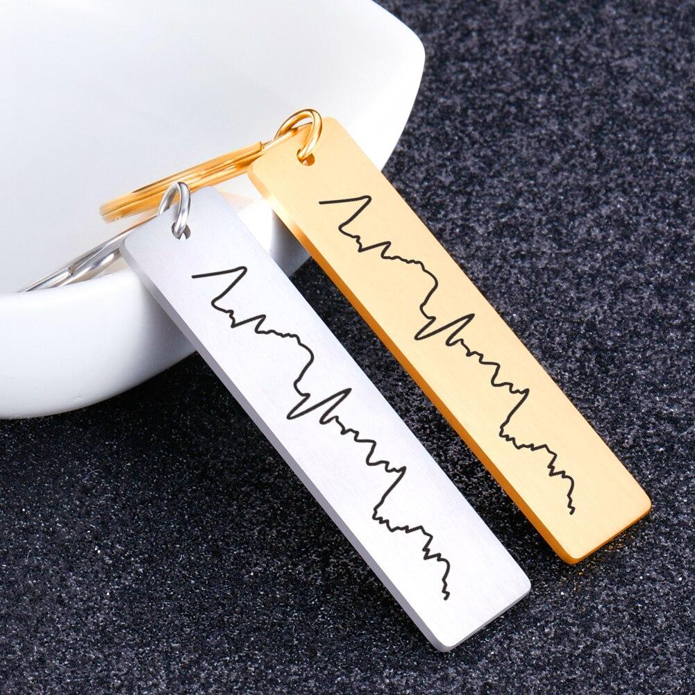 Customized Couples Keychain Boyfriend Girlfriend Keyring Husband Anniversary Valentine Day Gift Wome