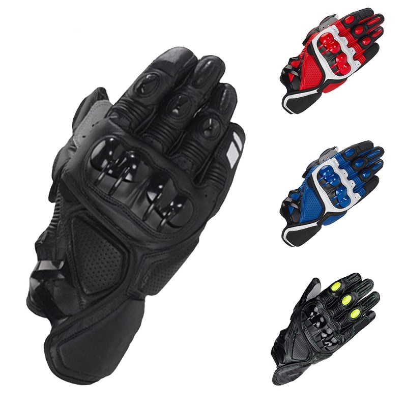 Alpine S1 - Mountain Bike Leather Protective Gloves, Breathable Hand Guards, Offroad