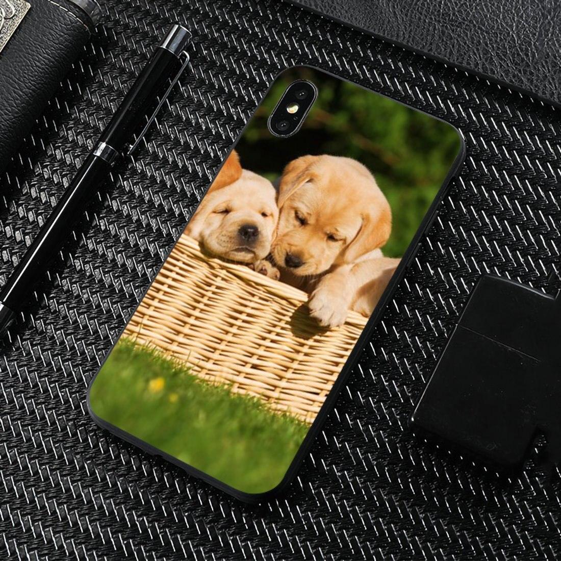 Para ZTE Blade A520 A512 A452 A602 A5 2019 V6 V7 V8 V9 V10 Lite Viat funda de teléfono de silicona de lujo perro cachorro labrador