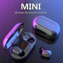 FANGTUOSI TWS Bluetooth Earphone With Microphone LED Display Wireless Earhook Earphones Waterproof N