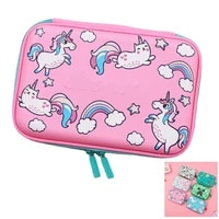 cartoon pencil case boy and girl school staionery two layer pencil holder lovely pencil storage pencil bag