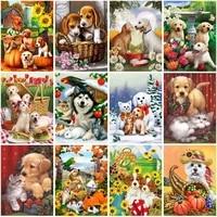 diy dog 5d diamond painting full square drill resin animal diamond embroidery cross stitch wall sticker home decor gift