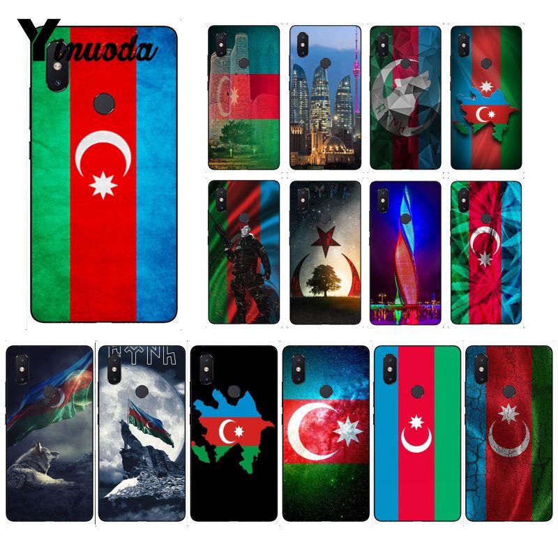 Yinuoda azerbaiana buta flag Cover черный мягкий чехол для телефона для Xiaomi mi 6 mi x2 mi x2S 5A 6A 7A Red mi 5 note5 Note7 8pro