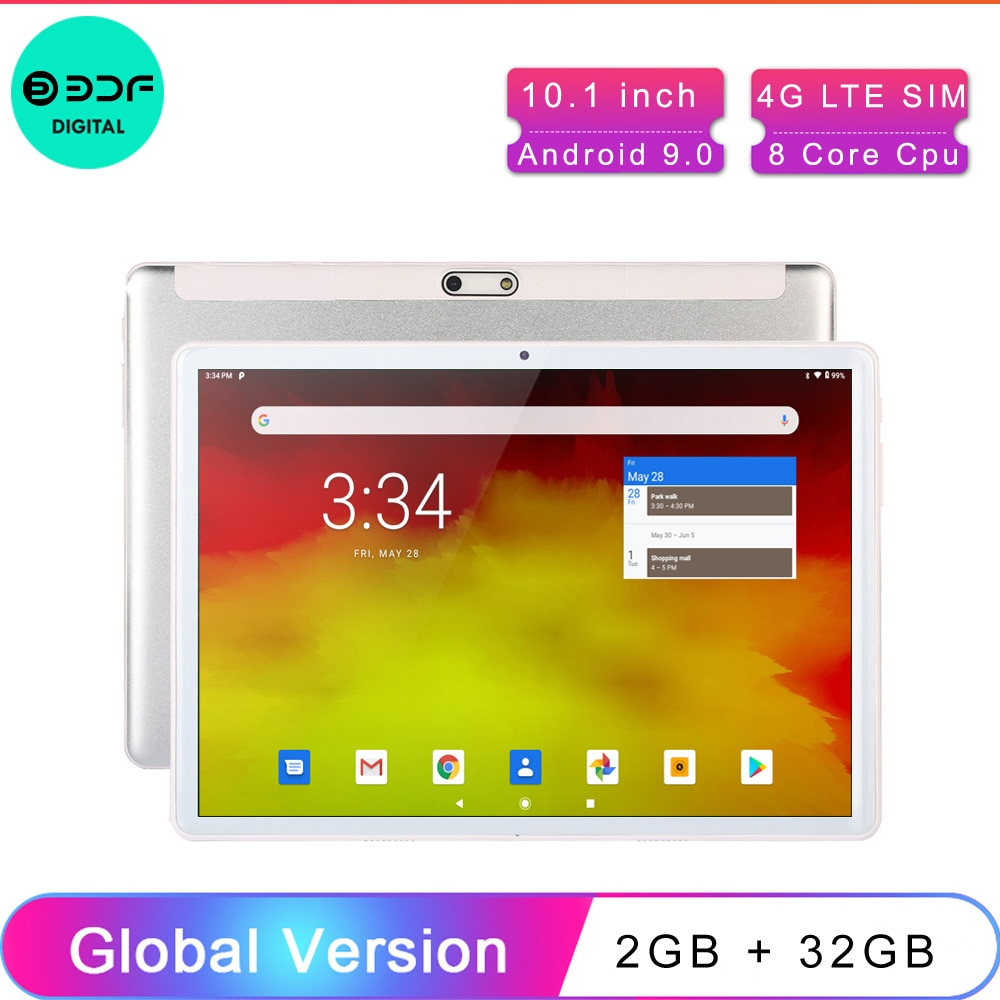 10.1 Inch Tablets Android 9.0 OS 4G Phone Call Smart Pc Android Tablet Android 2 + 32 GB, Tablet Phone,Android tablette,tabletpc