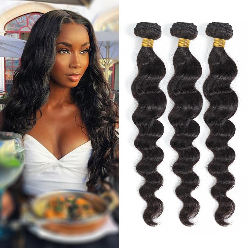 Royal Impression Indian Loose Deep Wave 1/3/4 Bundles Deal Human Hair Natural Color Remy Hair Extens