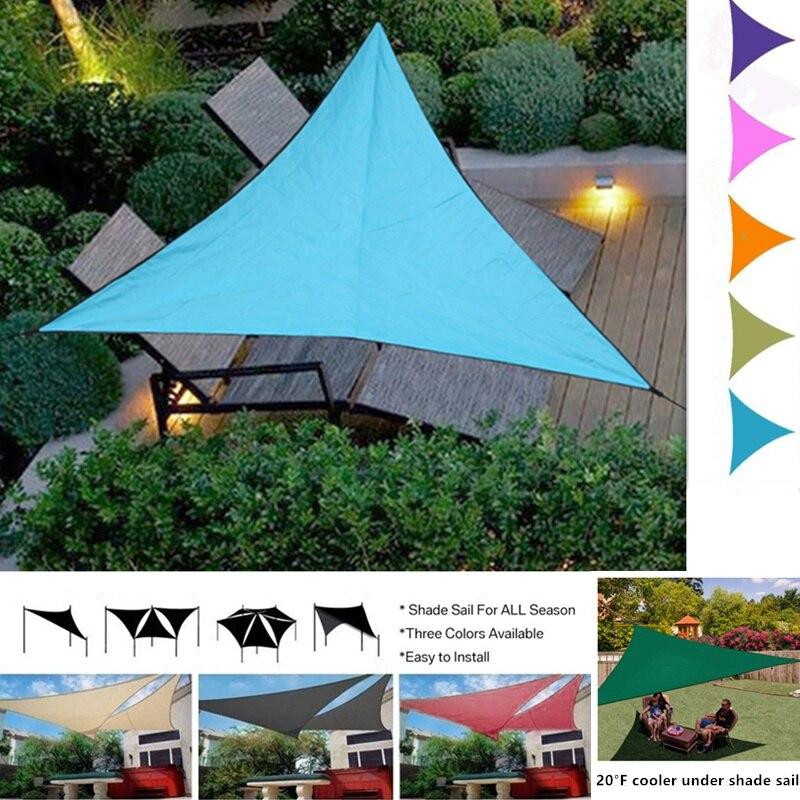 3M Waterproof Triangular UV Sun Shade Sail Sun Shelter Sunshade Canopy Garden Patio Pool Shade Sail Awning Camping Picnic Tent