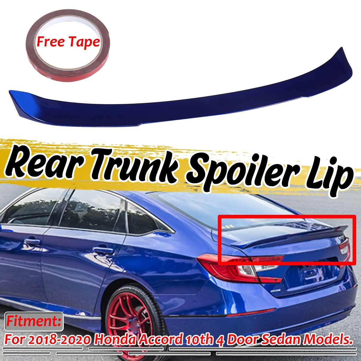 Gran calidad, alerón trasero para maletero de coche Duckbill, tapa grande ABS para Honda para Accord 10th 4Dr sedán 2018-2020 Blanco/Negro/azul