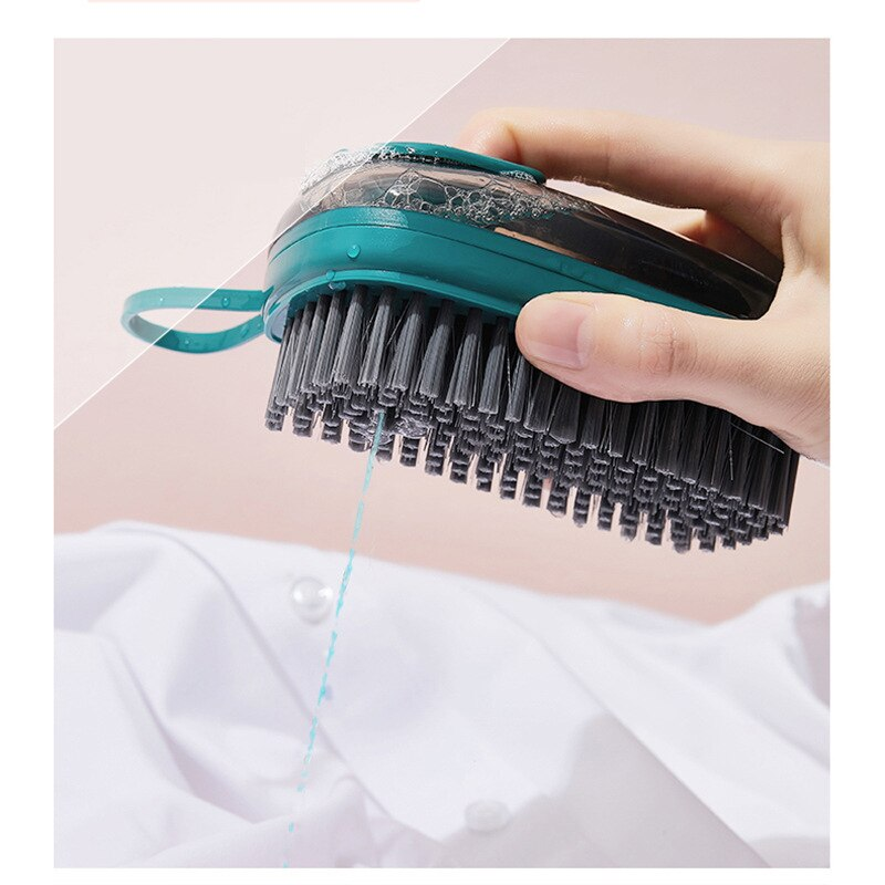 Liquid Laundry Brush Household Plastic Clothes Shoe Cleaning Board Brush Multifunctional Soft Brush Cleaning Tool multi use silicone laundry washing brush small size handheld washing board brush for clothes candy color shirts cleaning tool