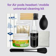 Écouteur haut-parleur trou dépoussiérage agent nettoyage boue Bluetooth étui pour écouteurs outil de nettoyage sans Trace colle brosse Kit pour air-pods