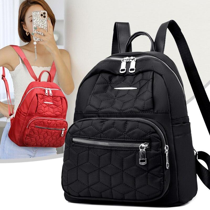 Модный женский рюкзак 2021, женские черные высококачественные рюкзаки из ткани «Оксфорд», женские рюкзаки большой вместимости, женские рюкза...