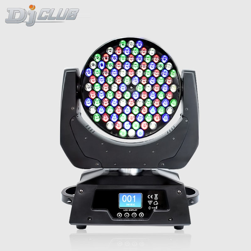 High Quality Dj Light Dmx Stage Beam Spot Movinghead 108X3W Rgbw Led Lyre Wash Stage Move Head For Bar Party Stage Show