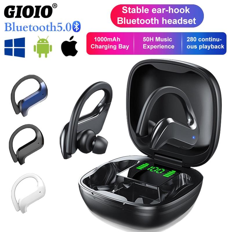 Auriculares deportivos MD03 TWS auriculares inalámbricos con Bluetooth con Control táctil, pantalla...