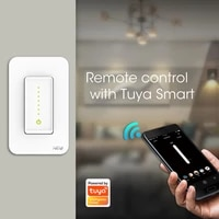 Tuya Smart Wifi US Dimmer Light Switch Touch Dimming Panel Wall Switch Works with Alexa Google Home Voice Control NoHub Required