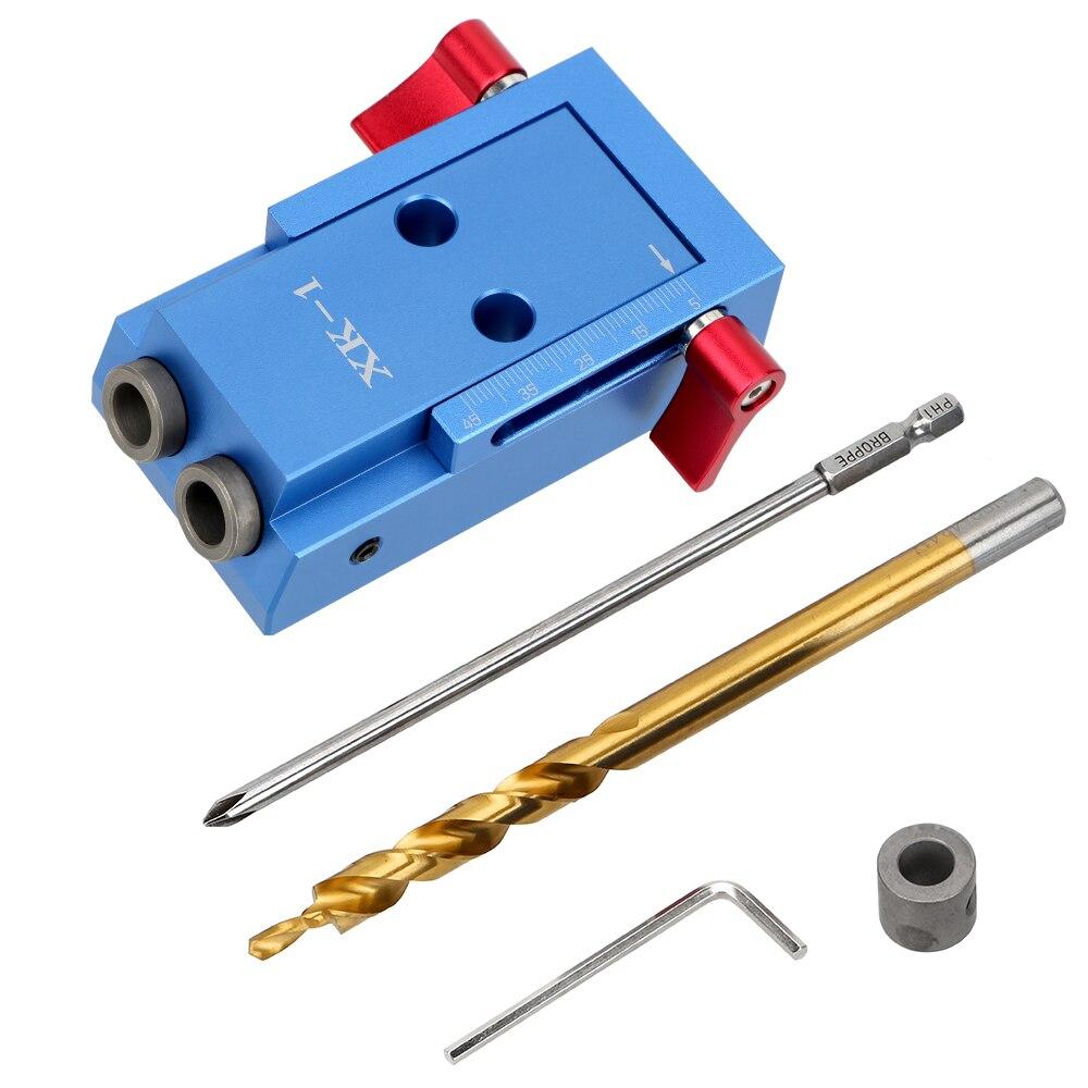 NICEYARD Puncher Schräge Loch Locator Tasche Loch Jig Kit System Holz Arbeit Werkzeug Set Möbel Stanzen Bohrer Zubehör