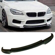 V Style Carbon fiber Front Bumper Lip Sport Fit For BMW 6-Series F06 F12 F13 M6