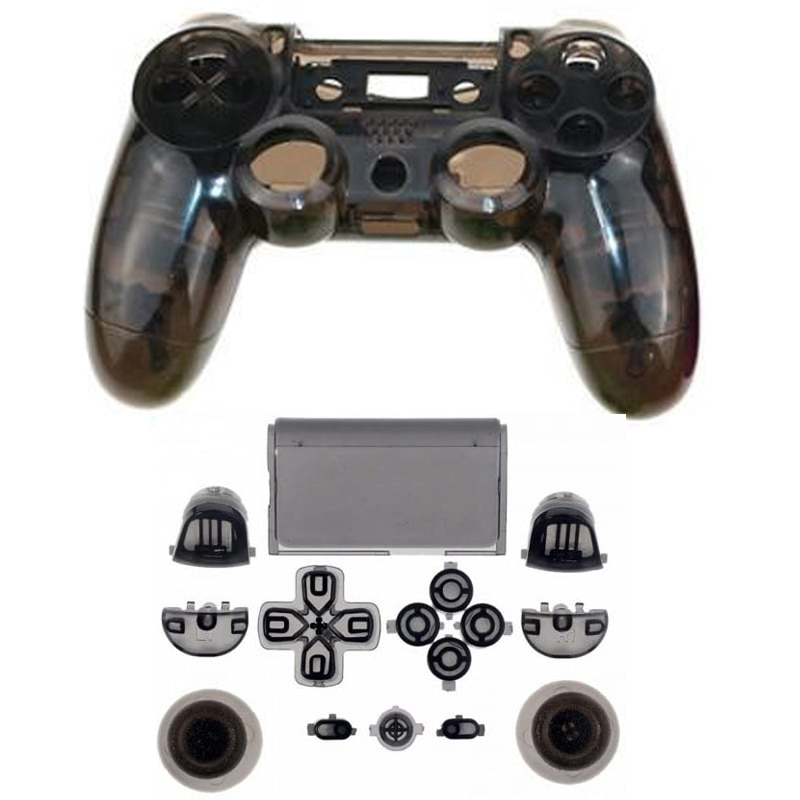 PS4 V1 Controller Nach Schwarz Transparent Full Set Gehäuse Shell Cover Fall Reparatur Mod Kit Für Sony Playstation 4 PS 4 begrenzte