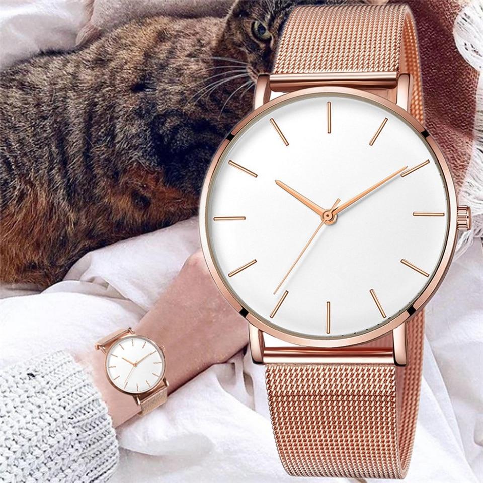 2021 luxury ladies watch mesh stainless steel casual bracelet quartz watch watch ladies watch clock reloj mujer relogio feminino