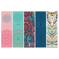 portable double layer quick drying yoga sports printed towels breathable sweat absorption non slip outdoor fitness pilates towel
