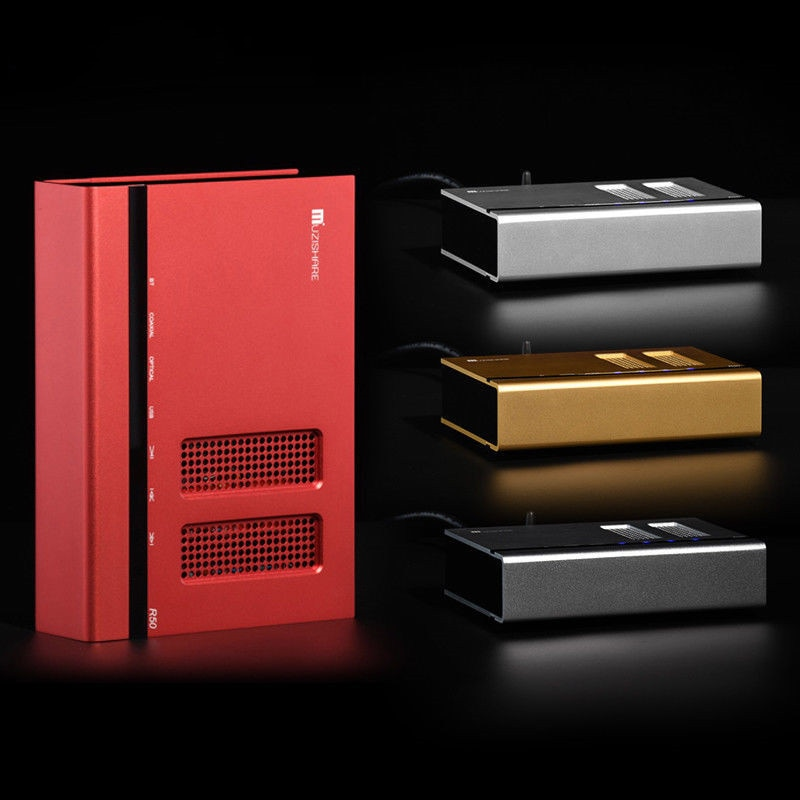 Muzishare R50 HiFi DAC Audio Decoder Lossless Bluetooth Receiver USB/OPT/COAX File Reader